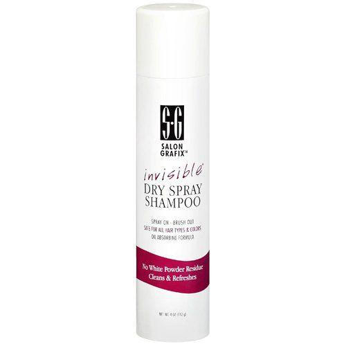 Salon Grafix Invisible Dry Spray Shampoo, 4 oz    $5.34