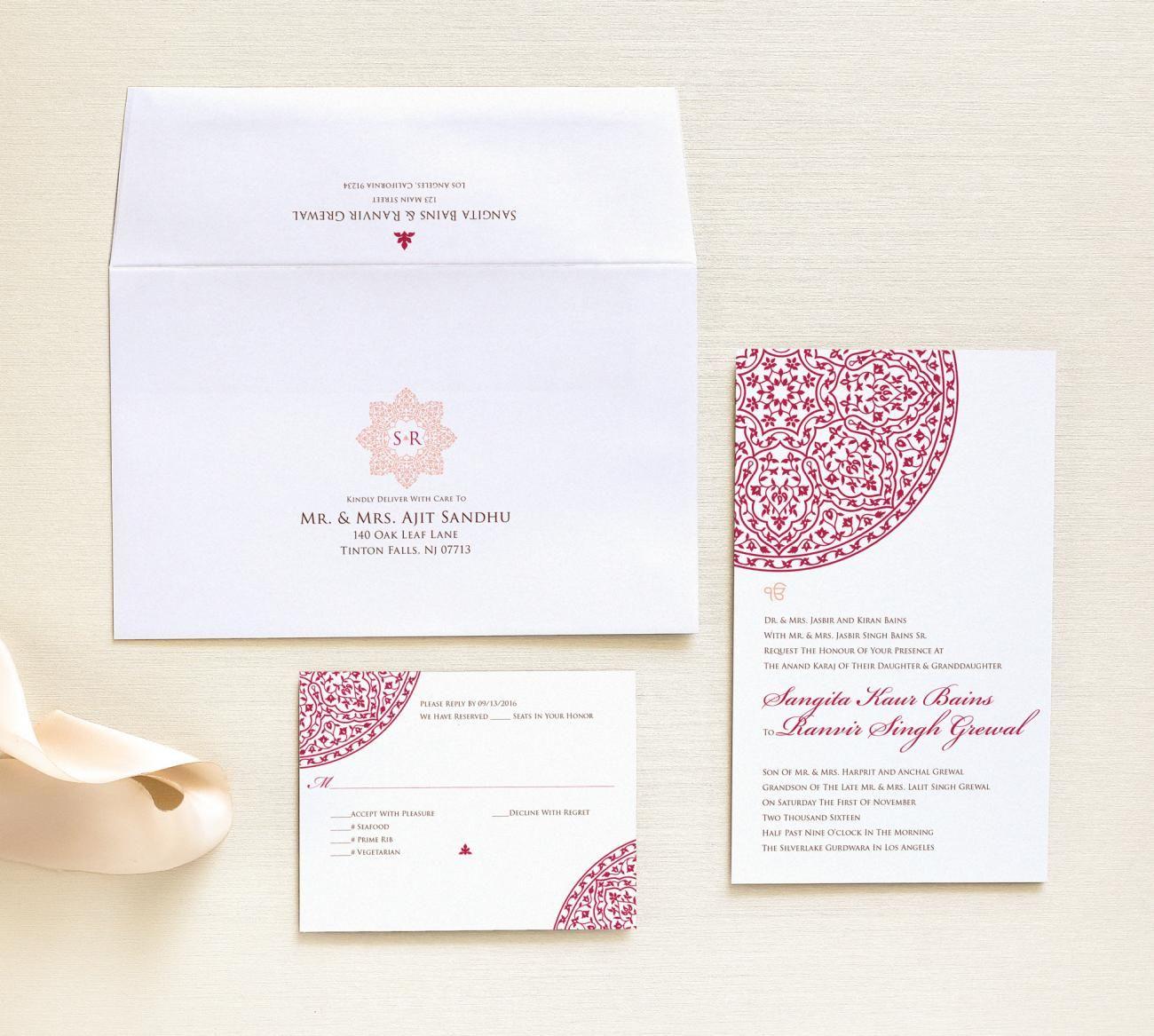 3 Piece Package Cordoba Storybook Invitation envelopes