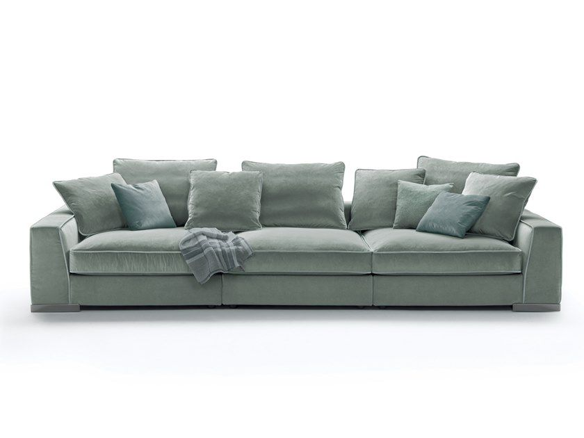 3 Seater Fabric Sofa With Removable Cover Armand By Mood By Flexform Fabric Sofa Sofa Removable Cover