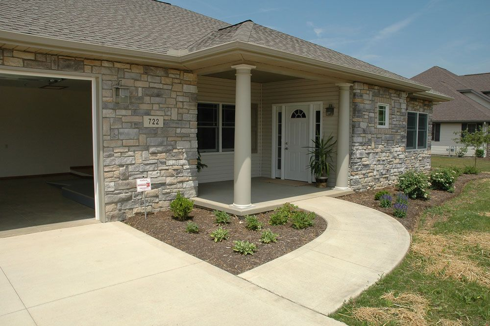 Barrier Free No Step Level Front Entrance For A Universal Design