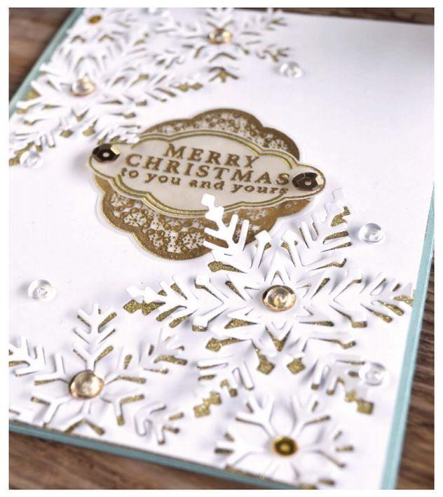 Hero Arts - Fancy Die - Paper Layering Snowflakes