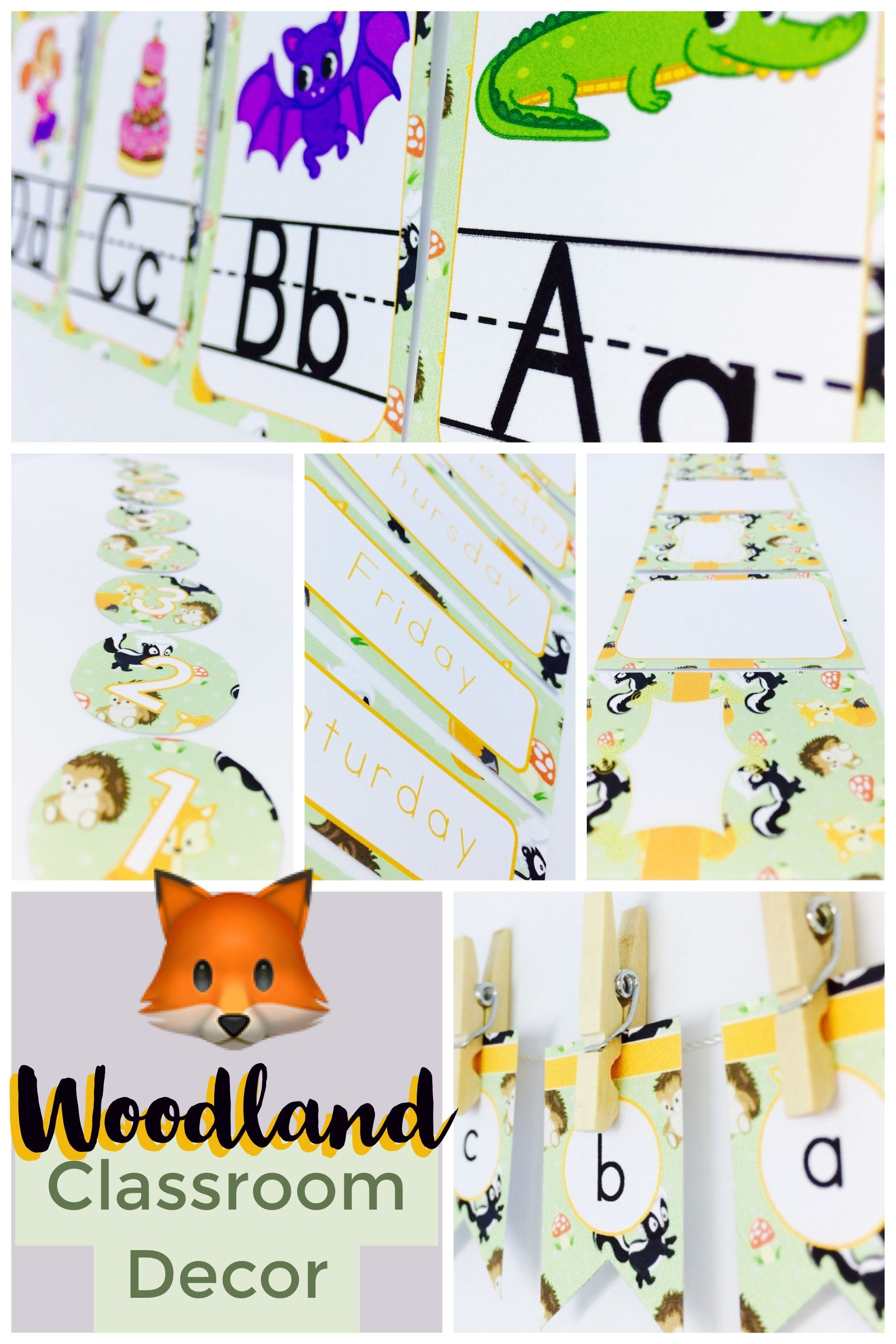 Woodland Classroom Decor Pack Editable