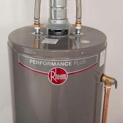 rheem performance plus 50 gal tall 9 year btu high efficiency natural gas water heater