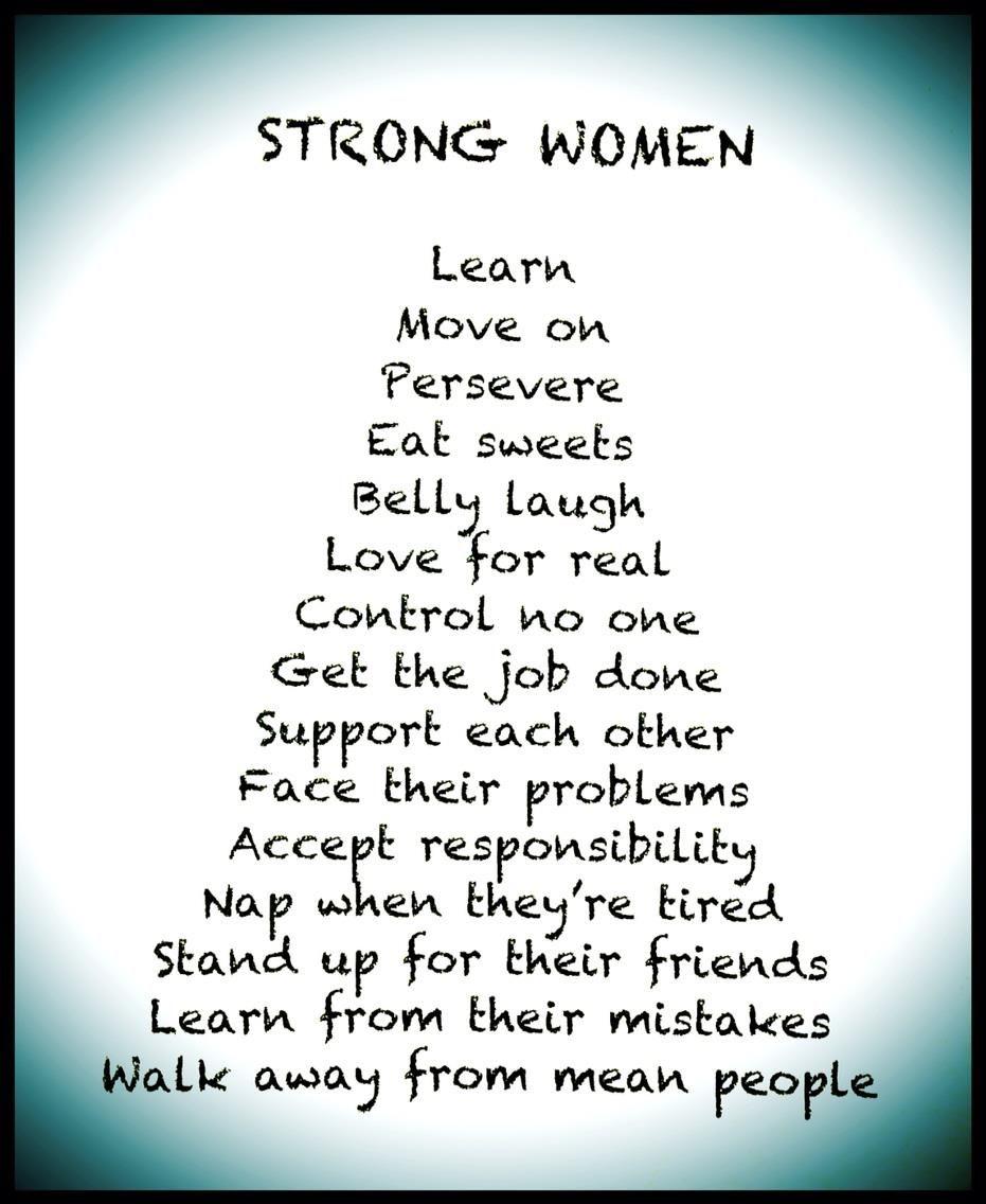 Strong Women. From my mama! The wonderful Lori Riley