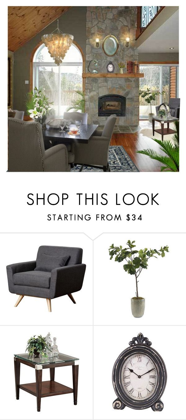 """""""Salon"""" by monika-jall ❤ liked on Polyvore featuring interior, interiors, interior design, home, home decor, interior decorating, PLANT, Abbyson Living, Frontgate and Chandelier"""