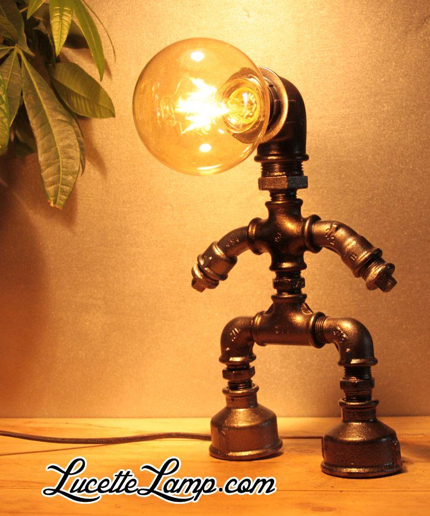 industrial pipe lamp plomberie dogpipe lampe m tal loft lampe vint lampe industrielle. Black Bedroom Furniture Sets. Home Design Ideas