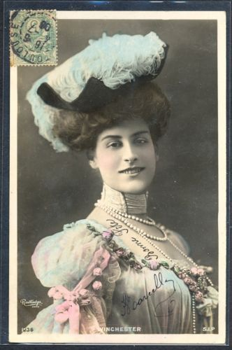 PY076-ARTIST-STAGE-STAR-WINCHESTER-FEATHER-HAT-Tinted-PHOTO-pc-REUTLINGER-1906