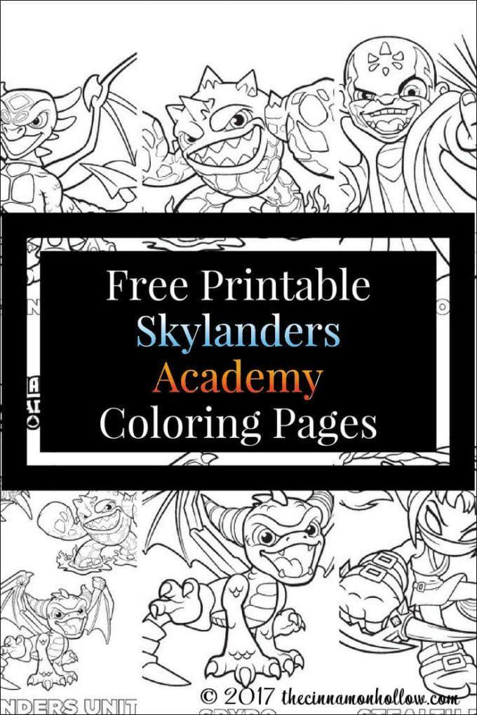 Free Printable Skylanders Academy Coloring Pages Coloring Pages Free Printables Skylanders