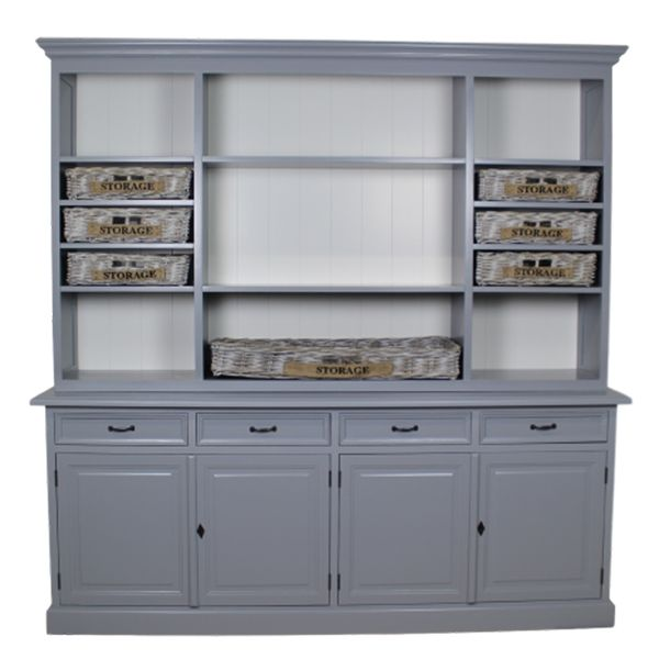 Buffetschrank ELIZABET Mango grau Auswahl 1 x Buffetschrank - schubladen für küchenschränke