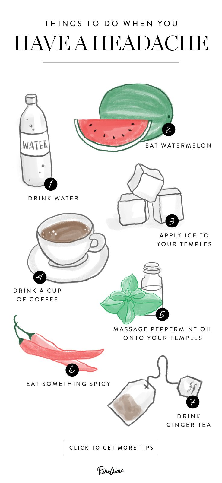 Things To Do When You Have a Headache | Natural Pain Relief | Health and Wellness Tips |