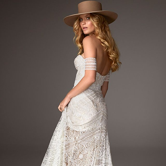 Funky Wedding Gowns: French Lace Guipure Lace To Create An Elegant, Yet