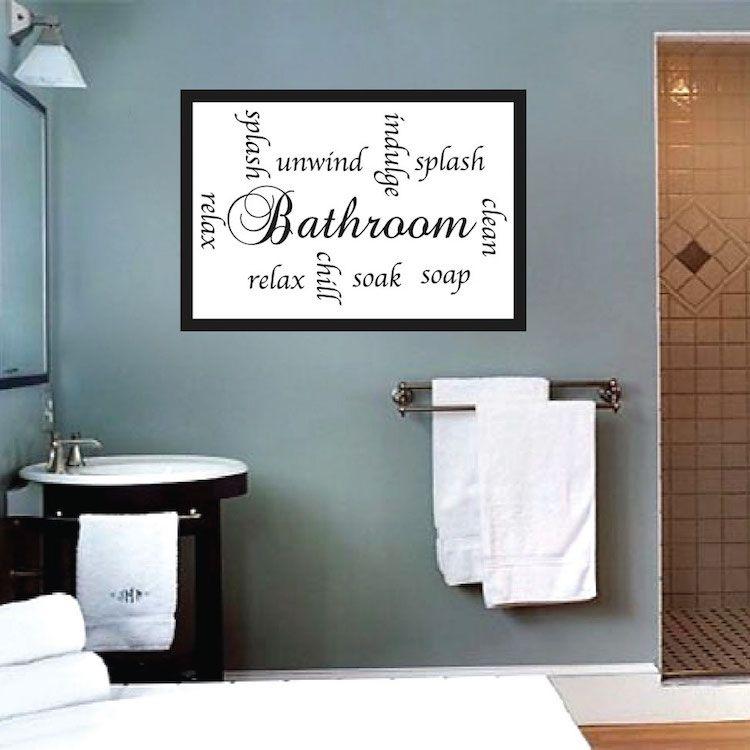 Bathroom Sayings Wall Art.Pin On Bathroom Wall Decals