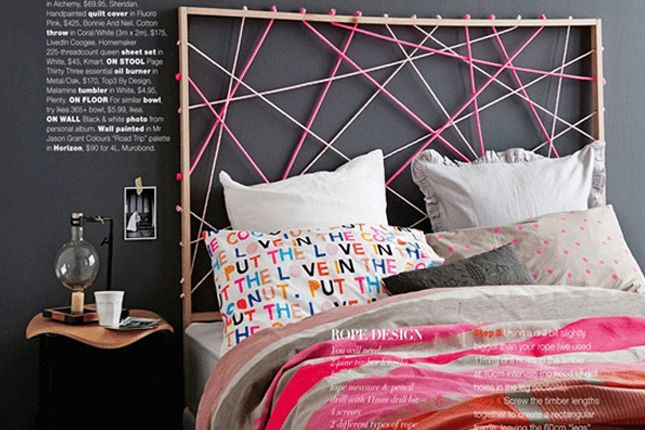 Knotted Rope Headboard via Brit + Co. & Knotted Rope Headboard via Brit + Co. | yatak odası | Pinterest ...