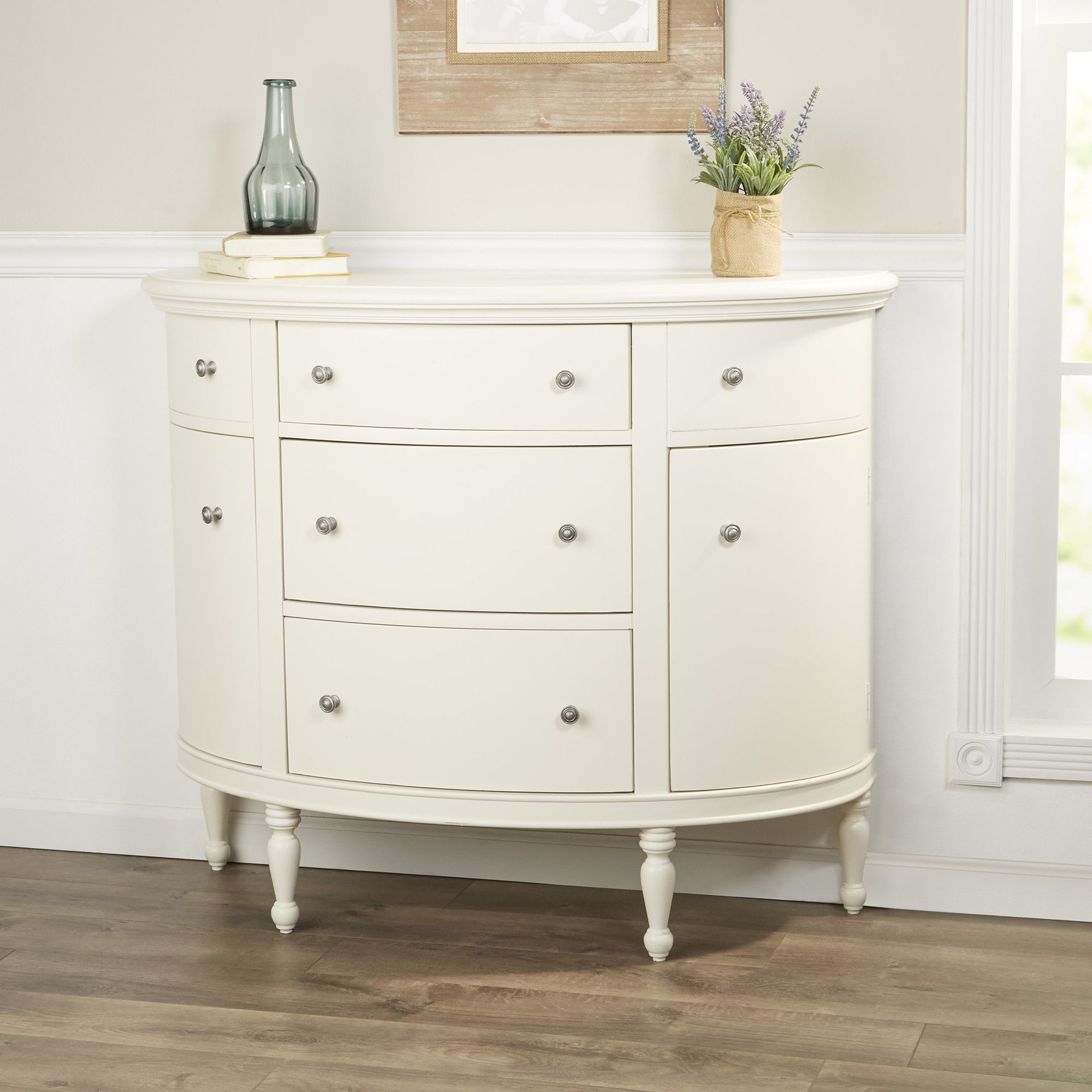 Cantor 2 Doors Half Circle Accent Cabinet Accent Chest Accent Cabinet Accent Chests
