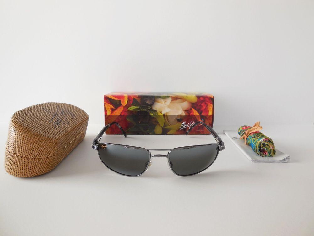 02072377ee9 NEW Maui Jim KAHUNA MJ 162-02 Polarized Sunglasses Gunmetal   Neutral Grey  Lens