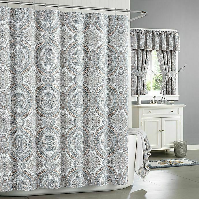J Queen New York Colette Stall Shower Curtain In Blue 54x78