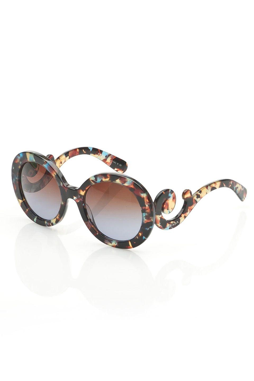 c37d93dde611 Prada Morgan Sunglasses in Blue Kaleidoscope and Brown Gradient