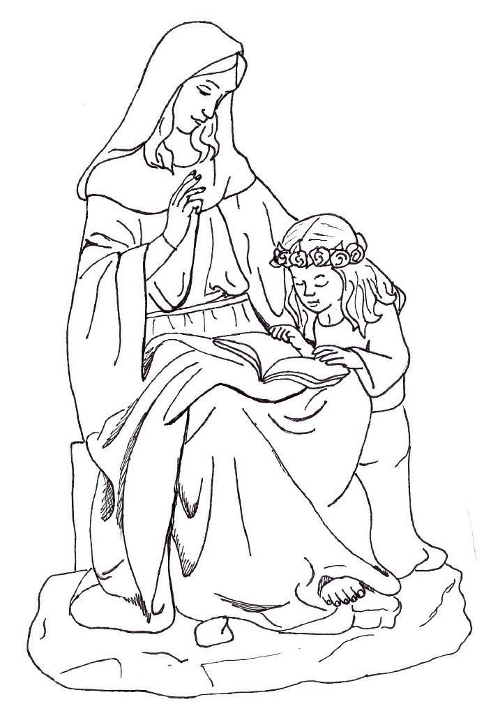 St Anne Coloring Page Saint Coloring Catholic Coloring