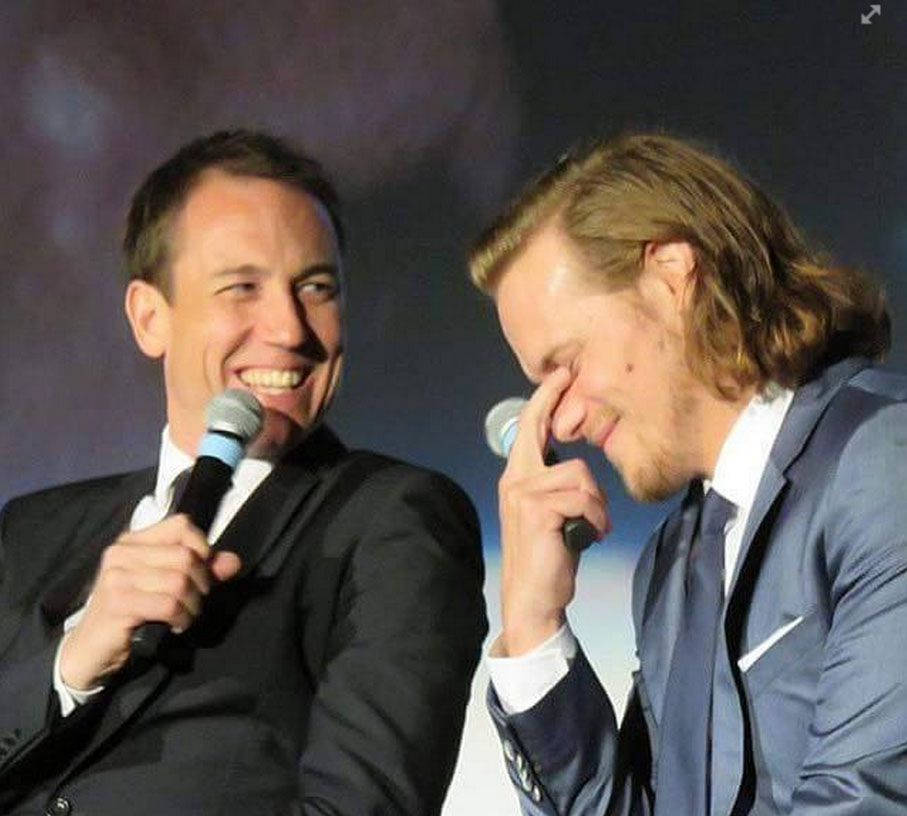 """The question was asked of Tobias what each of the other men could bring to the role of Black Jack. When it came to Sam, someone said """"size"""". lol"""