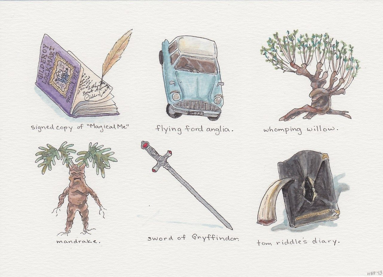 Harry Potter Inspired Illustrations A Series Of Artifacts From The Wizarding World And Extre Harry Potter Watercolor Harry Potter Drawings Harry Potter Art