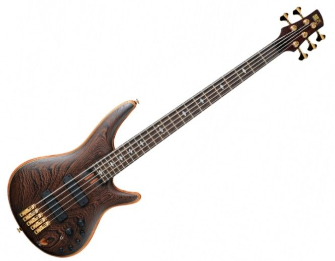 Ibanez SR5005-EOL. Mahogany core with wenge back and top. Bubinga/wenge neck with wenge fingerboard. This is my dream instrument.