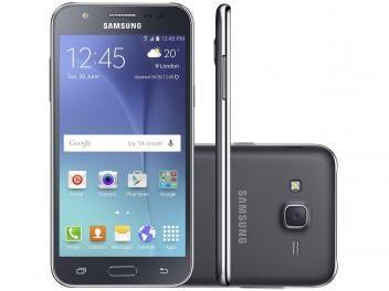 "Smartphone Samsung Galaxy J5 Duos 16GB Preto - Dual Chip 4G Câm 13MP + Selfie 5MP Flash Tela 5""HD"