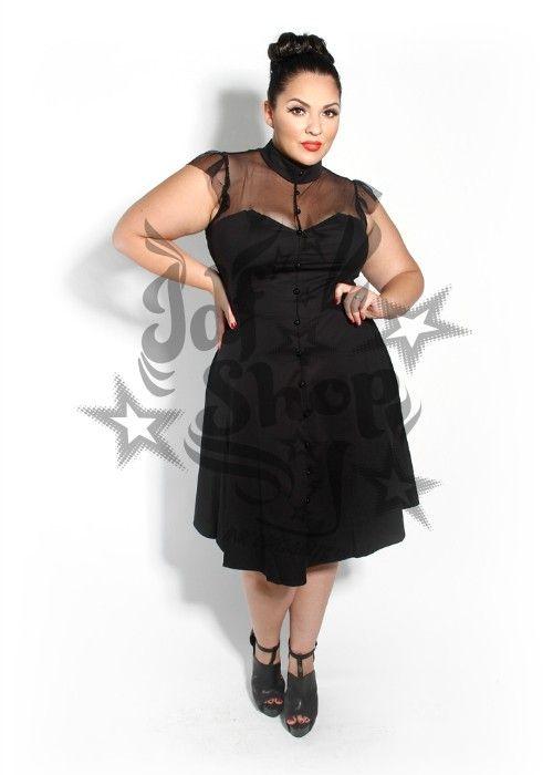 Vestido PinUp Ava negro Dulce vestido que mezcla el glamour de los