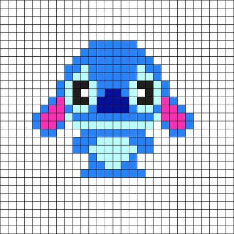 Stitch By Breanda 98 On Kandi Patterns 史迪奇 Perler Bead Disney