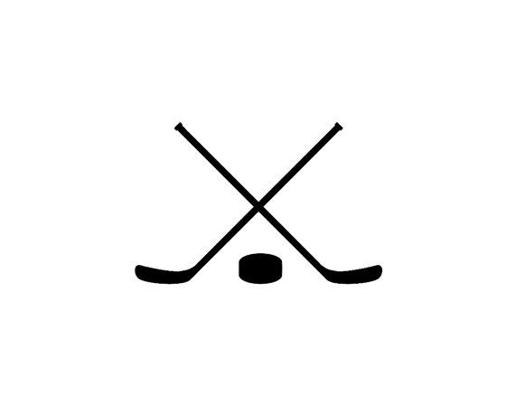 Hockey Cross Sticks Silhouette Vinyl Decal Hockey Kids Stick Tattoo Hockey Decals