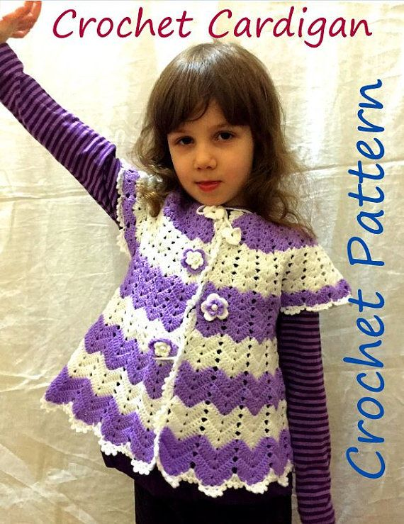 Crochet Pattern Cardigan Baby Girl Spring Chevron Outfit For Girls