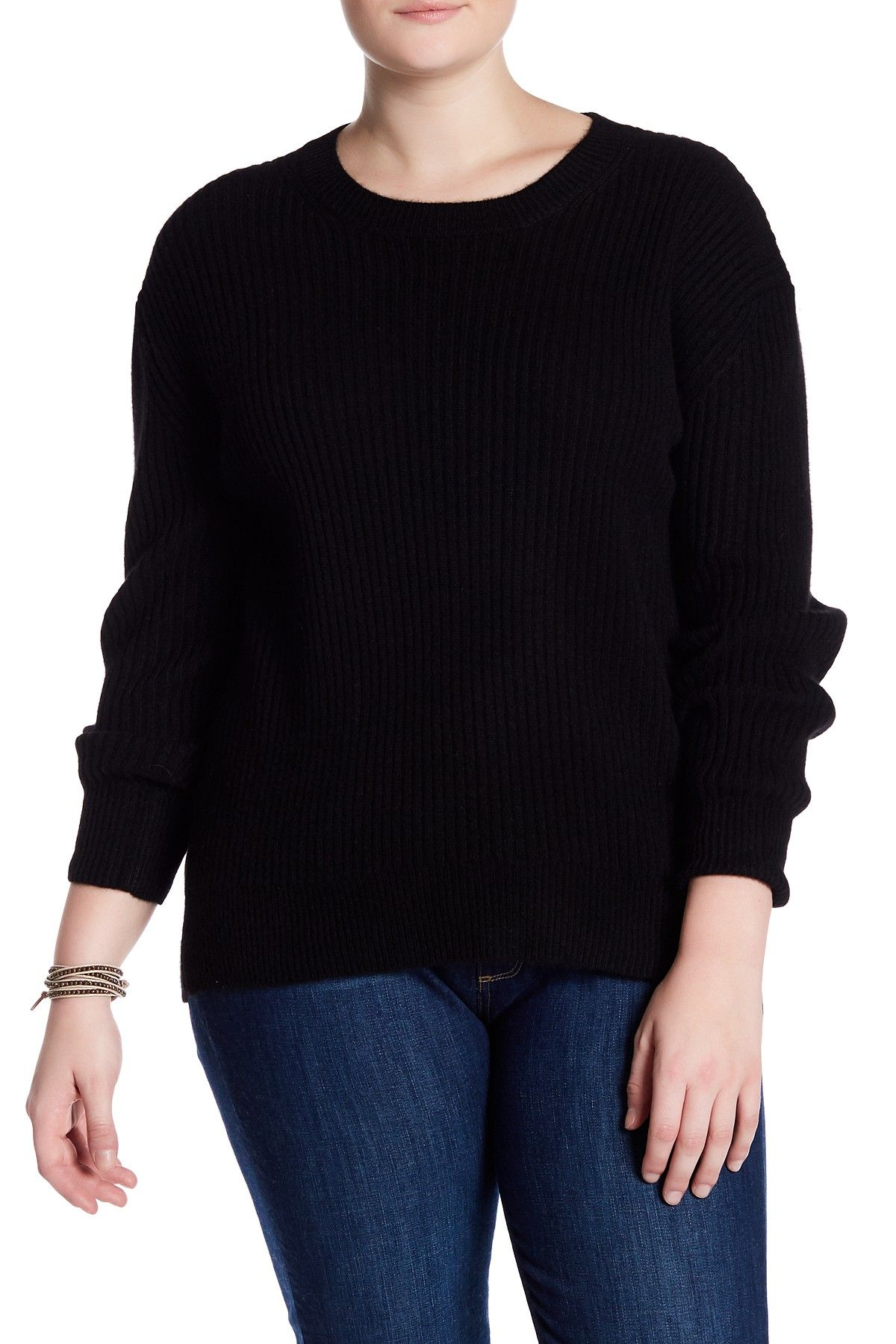 Olive Ribbed Cashmere Sweater Plus Size Products Pinterest