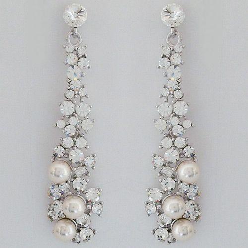 Pearl Chandelier Earrings Wedding TopEarrings – Wedding Earrings Chandelier