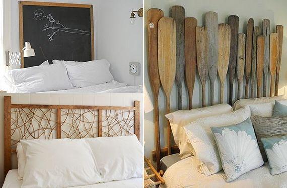 originelle-schlafzimmer-ideen-für-bett-kopfteil-selber-machen ... - Bettkopfteil Ideen Schlafzimmer