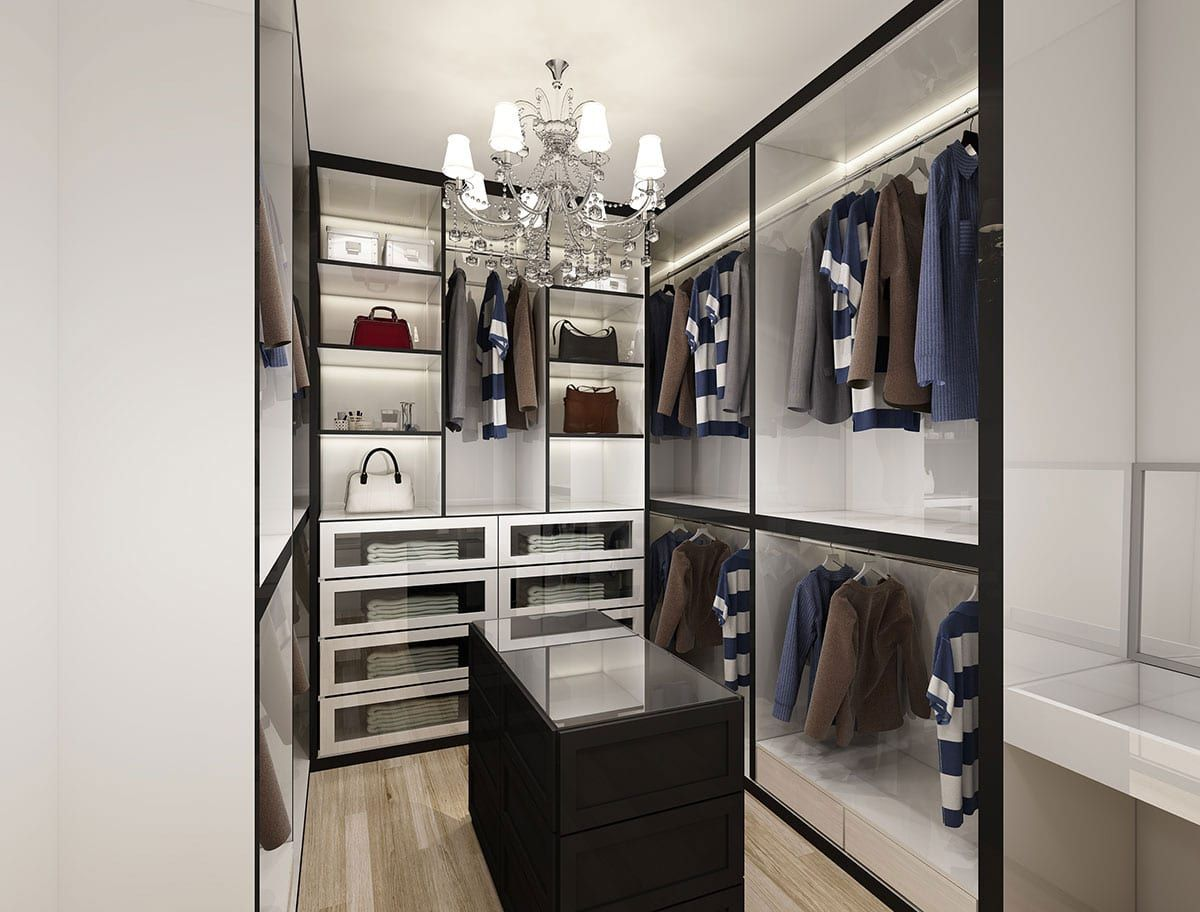Modern Walk In Wardrobe residential hdb interior design, modern walk-in wardrobe | walk-in