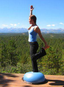 bosu balance trainer for difficult standing balance