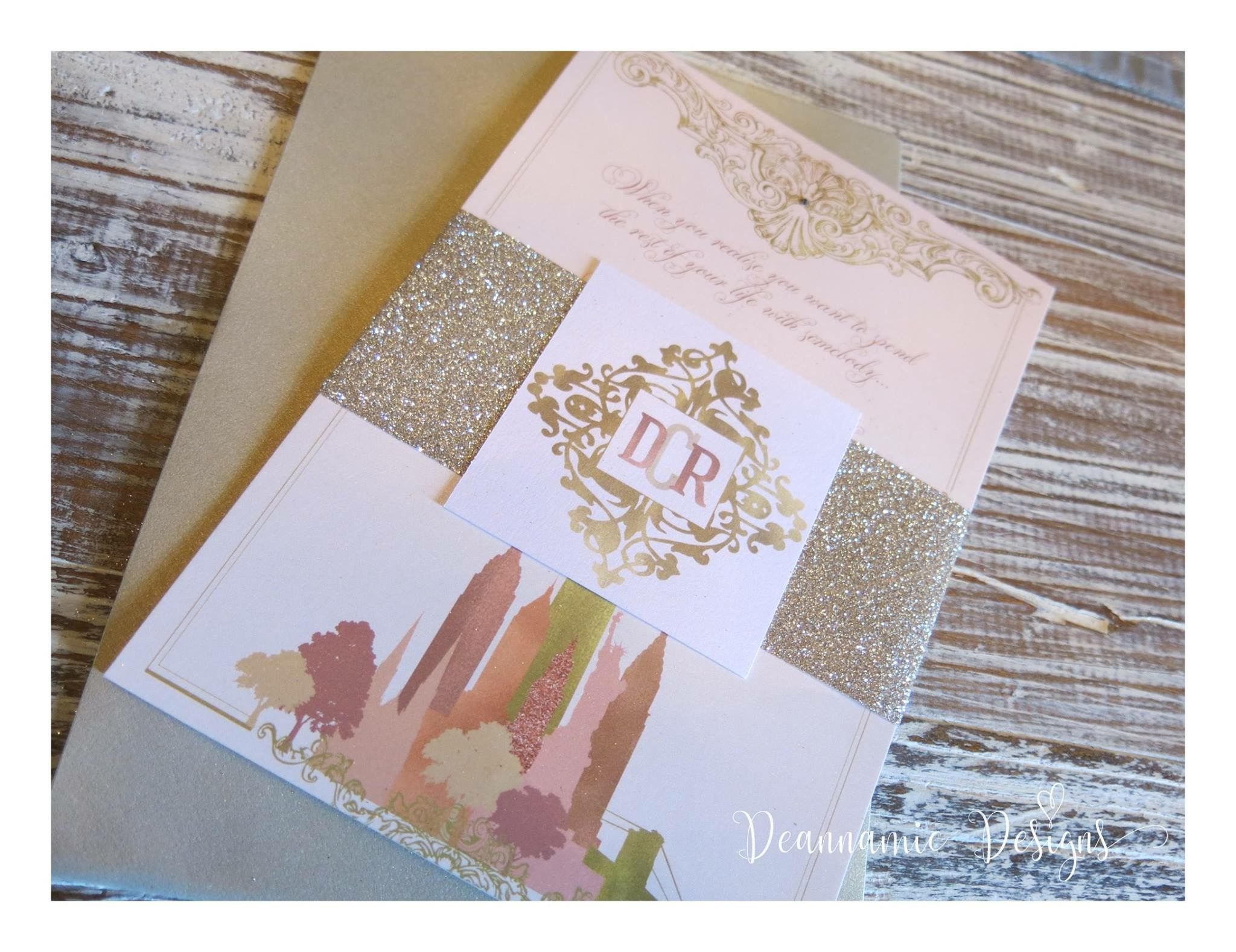 Rose Gold New York themed stationery set Deannamic Designs