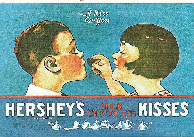 Hershey S Kisses Postcard With Images Hershey Kisses History