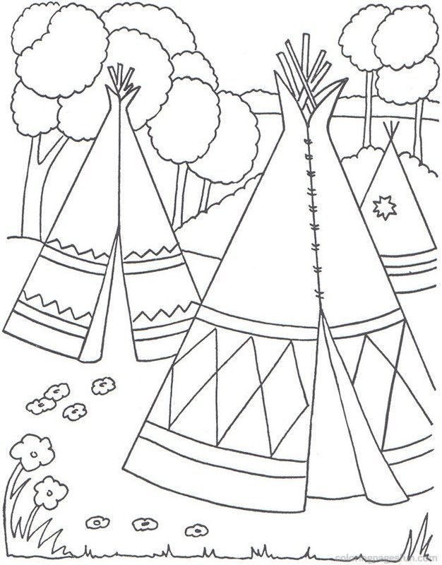 Native Americans Free Printable Coloring Pages Coloringpagesfun Free Printable Coloring Pages Coloring Pages Coloring Books