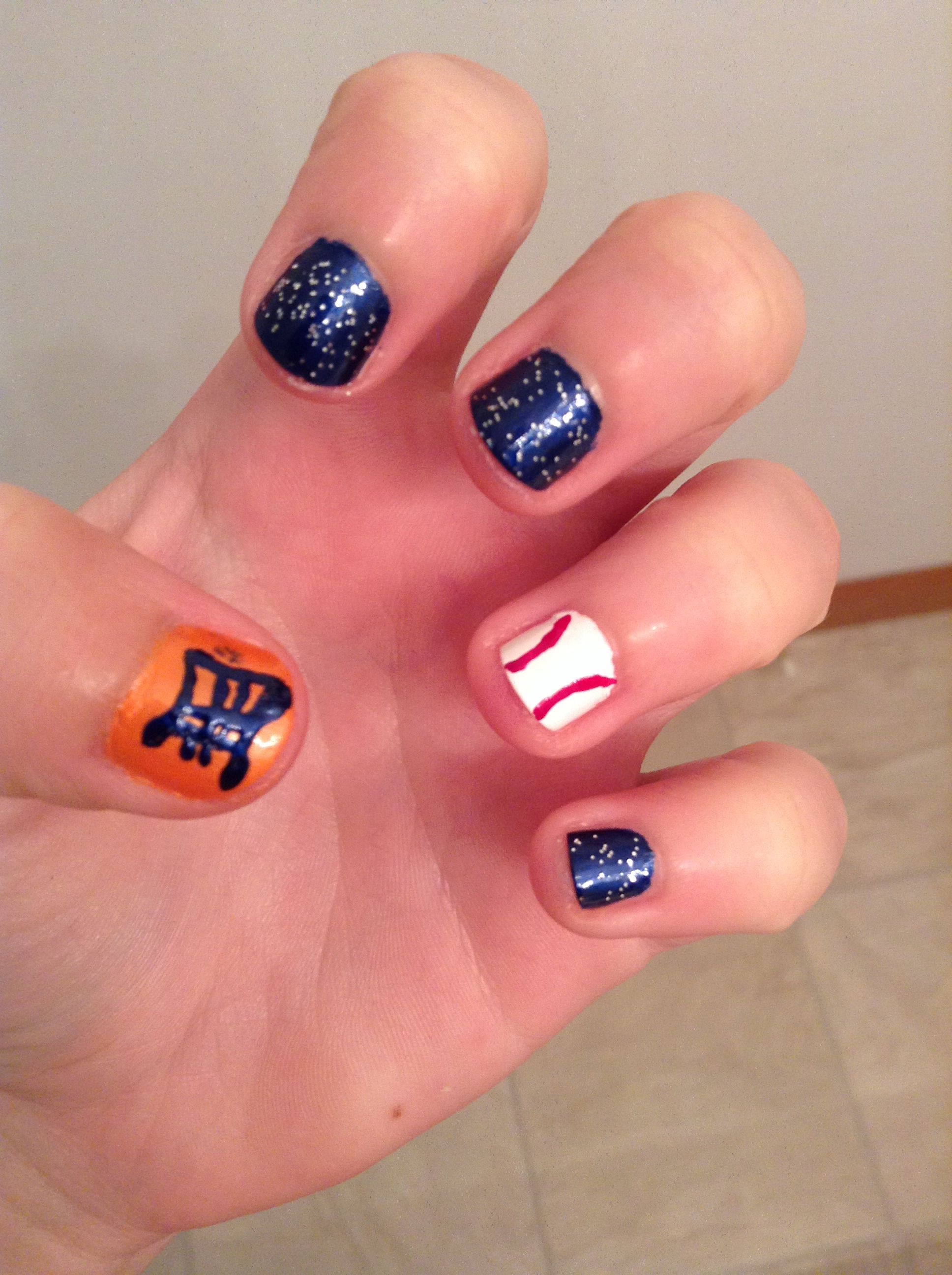 Detroit Tigers Nail Art | Best Nail Designs 2018