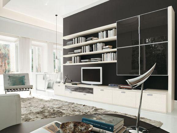 Soggiorno moderno bianco e nero. | ArredissimA Soggiorni | Pinterest ...