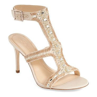Great Deals Sale Online Choice Cheap Online Imagine by Vince Camuto Phoebe T-Strap Sandal(Women's) -Crystal/Soft Shimmer Satin Lowest Price WUsICW