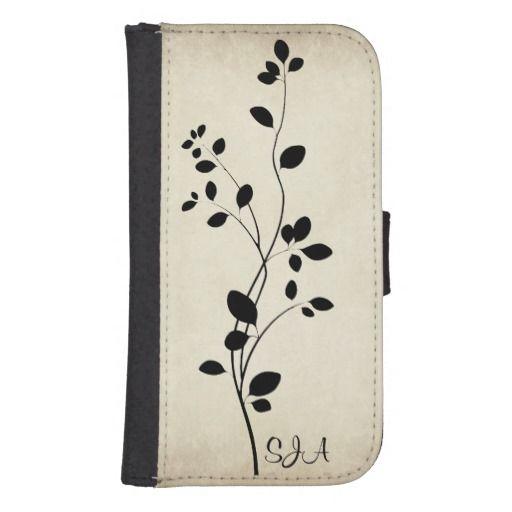 Leafy Vine Design Phone Wallet