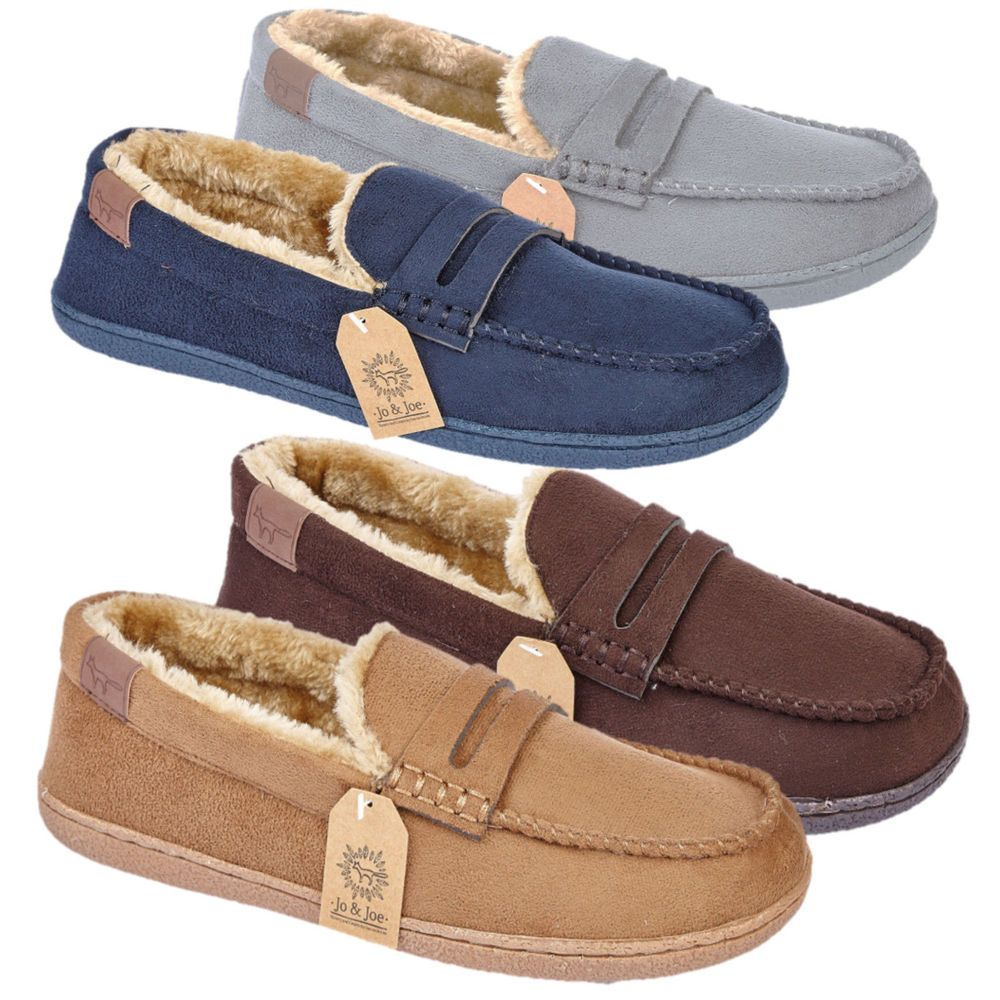 Hombre slippers fleece lined Winter Warm Hard Sole Comfort Comfort Sole Dads Gift Zapatos Talla 959bd2