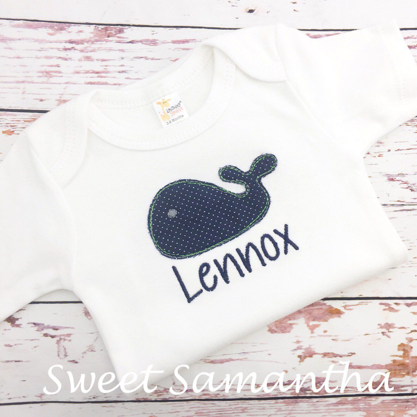 Baby Boy Whale bodysuit Whale baby shower take home outfit whale gift for baby