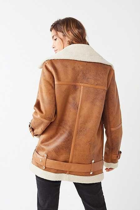 4d777958035 Avec Les Filles Oversized Faux Sherpa Jacket