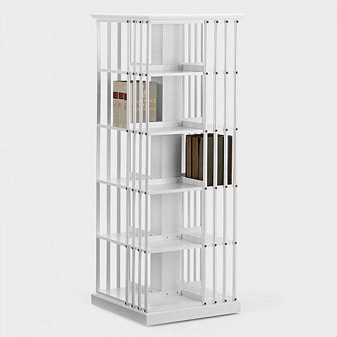Bücherkarussel groß, Birke weiß