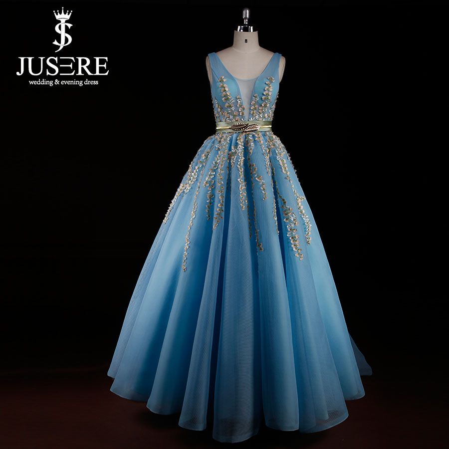 Cheap Jusere Y 993 Sky Blue red Prom vestidos 2015 A línea ...