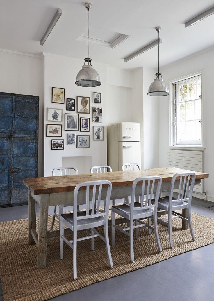 Grandes mesas rústicas de madera | ganxo | Pinterest | Mesa rústica ...