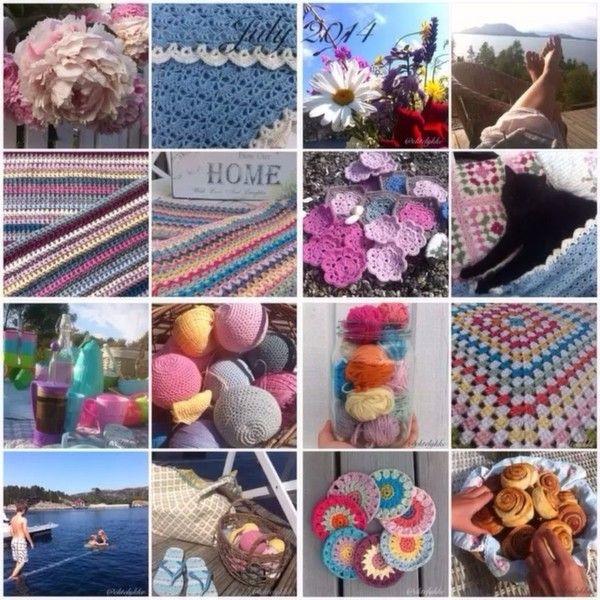 ektelykke crochet collage - #crochet on Instagram