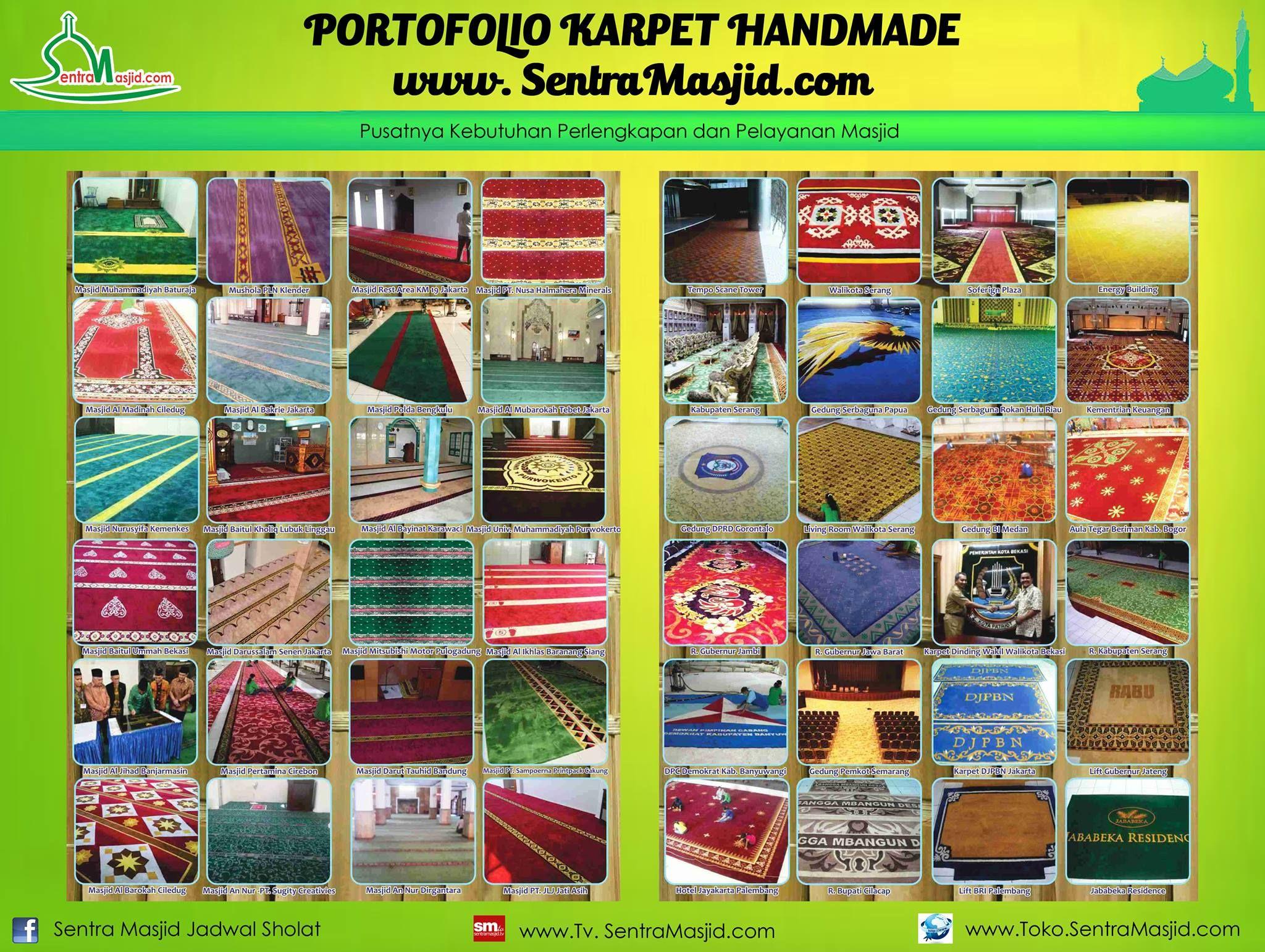 Sentra Masjid menghadirkan beraneka jenis karpet yang